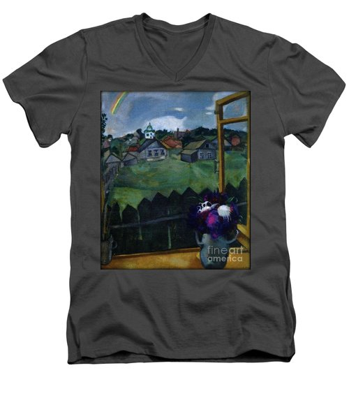 Window At Vitebsk Men's V-Neck T-Shirt