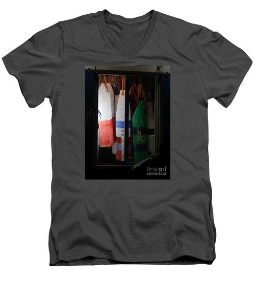 Window Buoys Key West Men's V-Neck T-Shirt by Expressionistart studio Priscilla Batzell