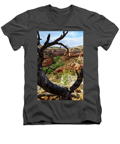 Men's V-Neck T-Shirt featuring the photograph Window by Chad Dutson