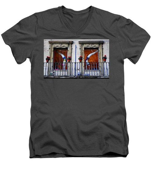 Window Dressing 2 In Florence Italy Men's V-Neck T-Shirt