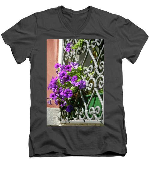 Window In Bloom Men's V-Neck T-Shirt