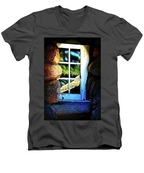 Window In Rock Men's V-Neck T-Shirt