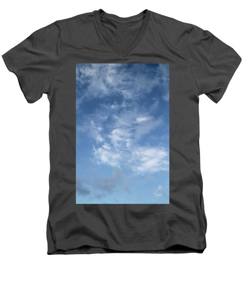 Window On The Sky In Israel During The Winter Men's V-Neck T-Shirt by Yoel Koskas