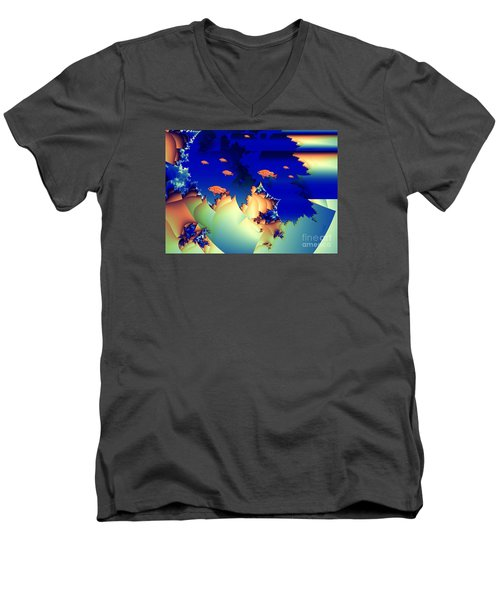Window On The Undersea Men's V-Neck T-Shirt by Ron Bissett