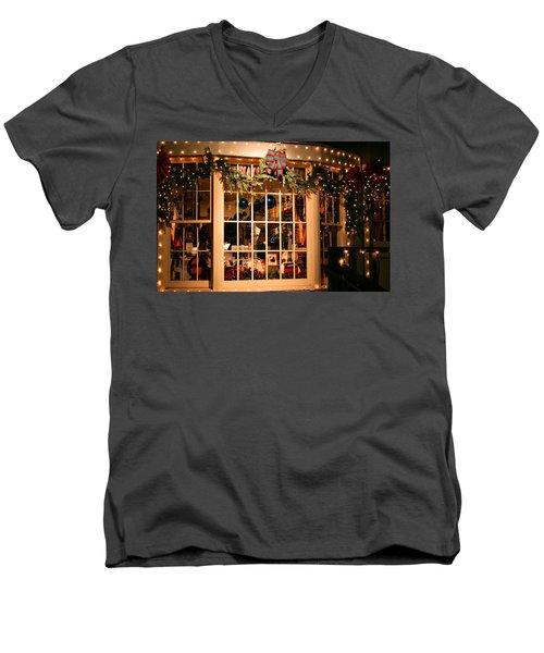 Window Shopping Men's V-Neck T-Shirt by Kristin Elmquist