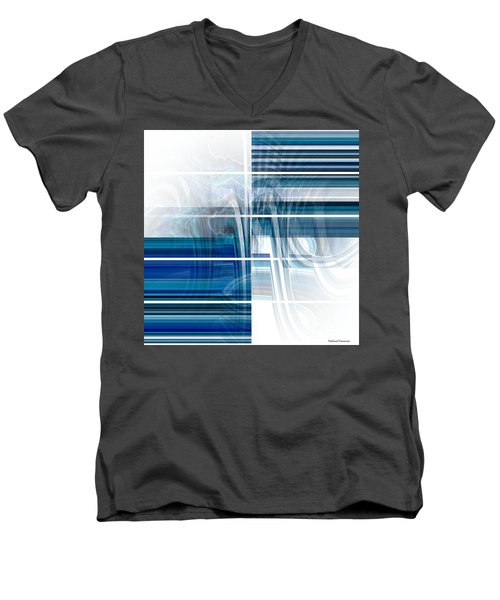 Window To Whirlpool Men's V-Neck T-Shirt by Thibault Toussaint