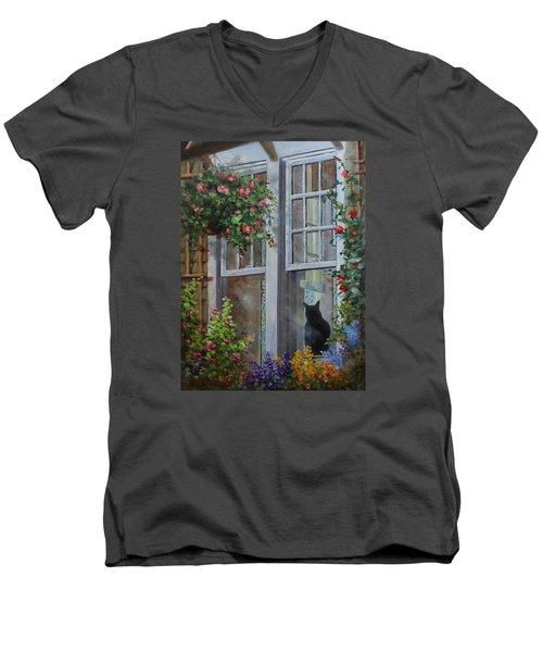 Window Watcher Men's V-Neck T-Shirt