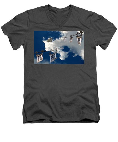 Windows And The Sky Men's V-Neck T-Shirt by Christopher Woods