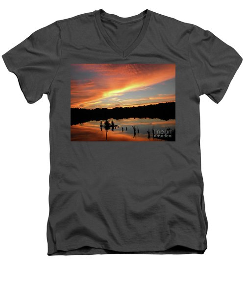 Windows From Heaven Sunset Men's V-Neck T-Shirt