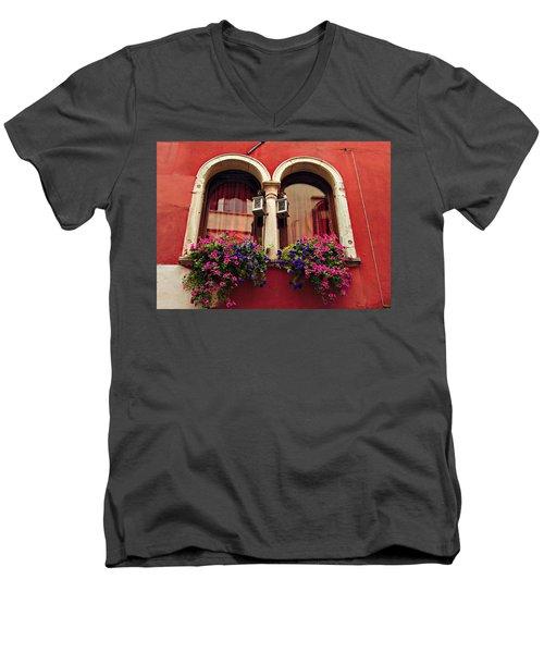 Windows In Venice Men's V-Neck T-Shirt