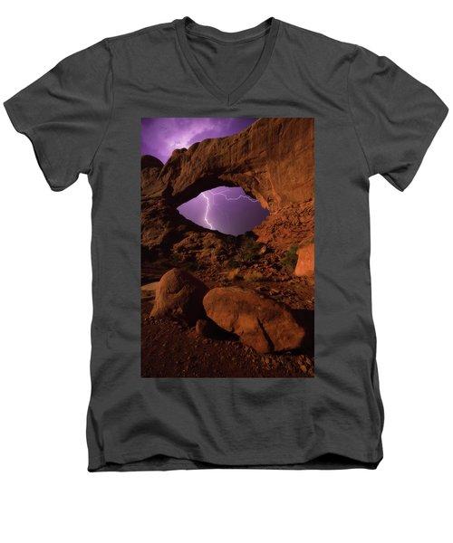 Windows Storm Men's V-Neck T-Shirt by Darren White