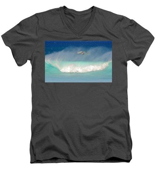 Windsurfer In The Spray Men's V-Neck T-Shirt