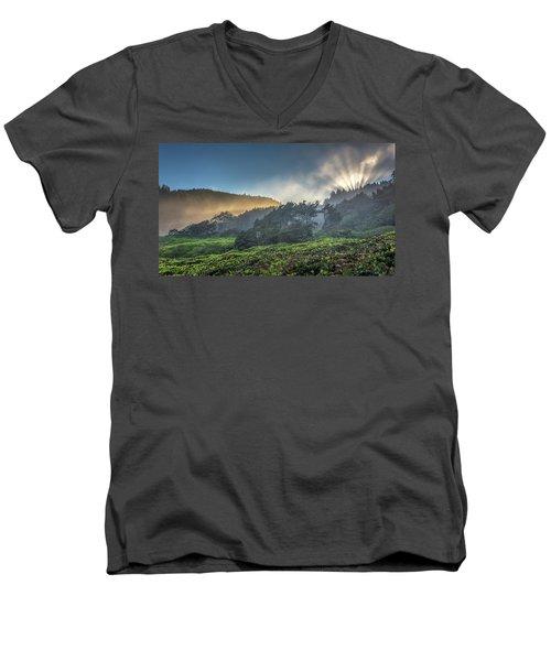 Windswept Trees On The Oregon Coast Men's V-Neck T-Shirt