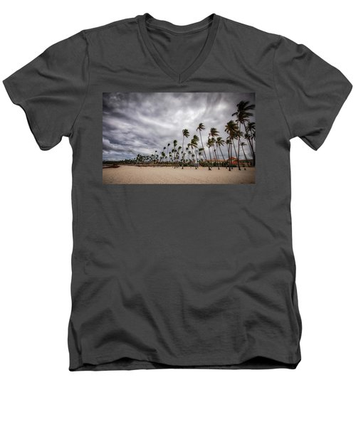 Windy Beach Men's V-Neck T-Shirt