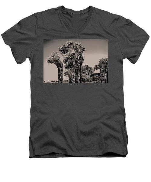Windy Day At Beach Men's V-Neck T-Shirt