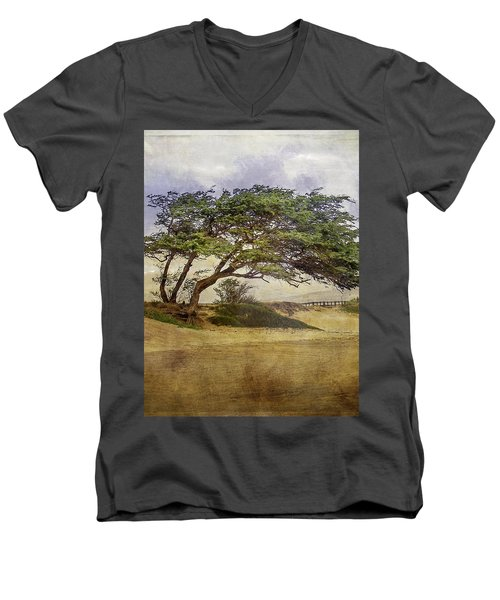 Windy Lean Men's V-Neck T-Shirt by Gena Weiser