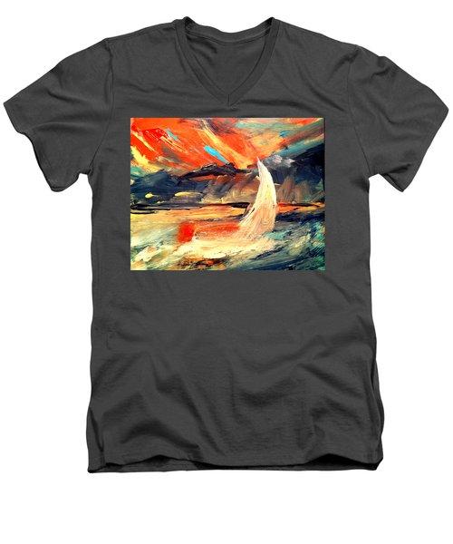 Windy Sail Men's V-Neck T-Shirt