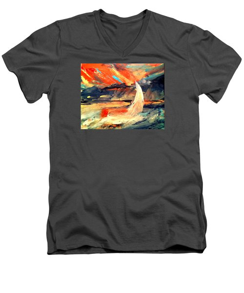 Windy Sail Men's V-Neck T-Shirt