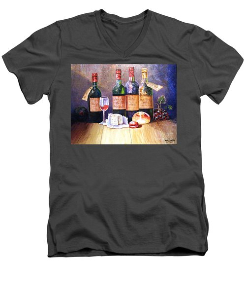 Wine And Cheese Men's V-Neck T-Shirt