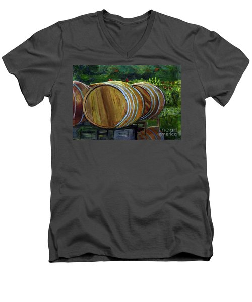 Wine Barrels Men's V-Neck T-Shirt
