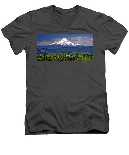 Wine Country Men's V-Neck T-Shirt by Scott Mahon