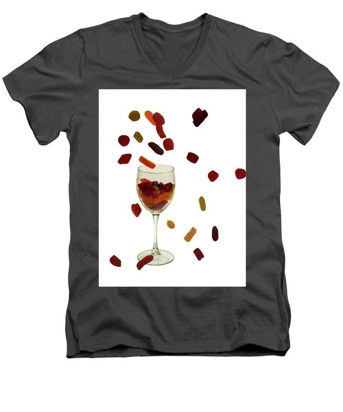 Men's V-Neck T-Shirt featuring the photograph Wine Gums Sweets by David French
