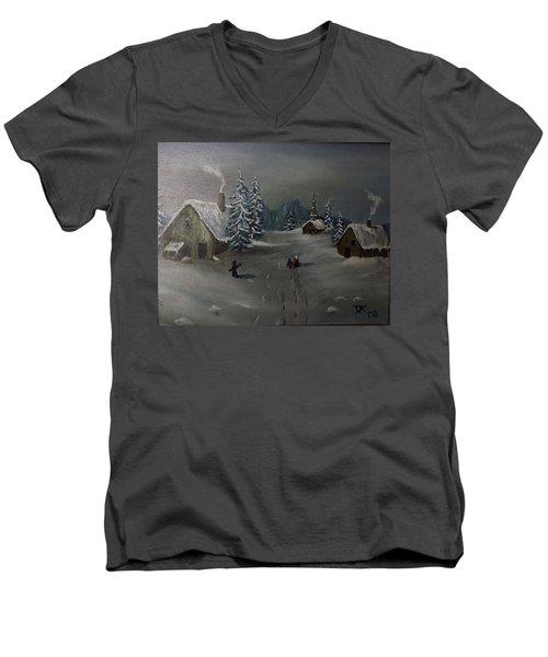 Winter In A German Village Men's V-Neck T-Shirt