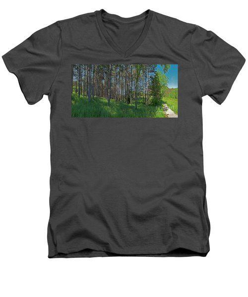 Wingate Prairie Veteran Acres Park Pines Crystal Lake Il Men's V-Neck T-Shirt