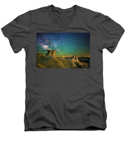 Winged Guardians Men's V-Neck T-Shirt