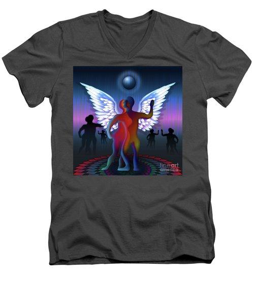 Winged Life Men's V-Neck T-Shirt by Rosa Cobos