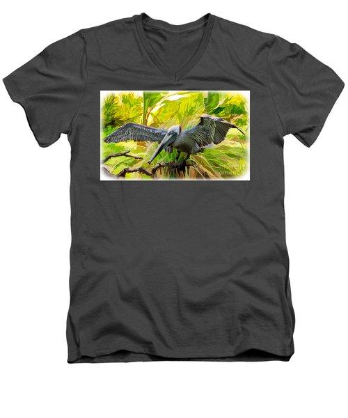 Winging It  Men's V-Neck T-Shirt by Judy Kay