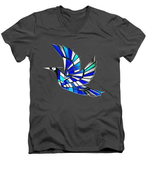 Wings Men's V-Neck T-Shirt by Asok Mukhopadhyay