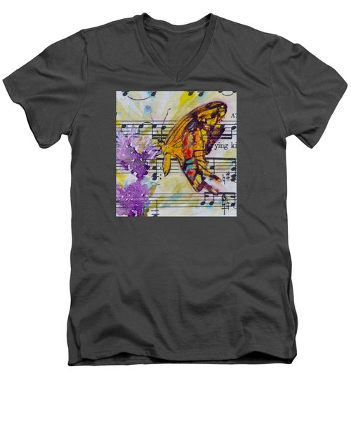 Wings II Men's V-Neck T-Shirt by Beverley Harper Tinsley