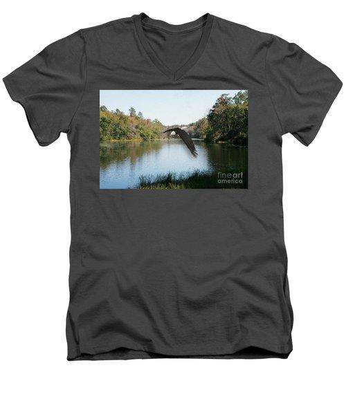 Wings Like Eagles Men's V-Neck T-Shirt