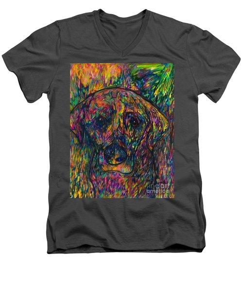 Winnie The Dog Men's V-Neck T-Shirt