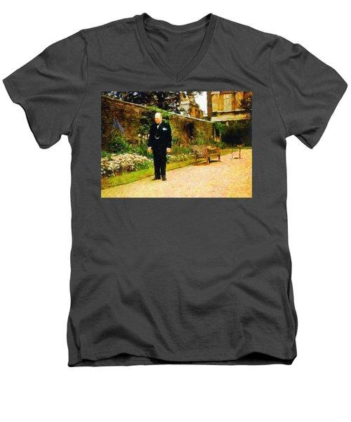 Winston Churchill, 1943 Men's V-Neck T-Shirt
