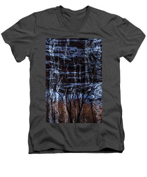Winter Abstract Men's V-Neck T-Shirt