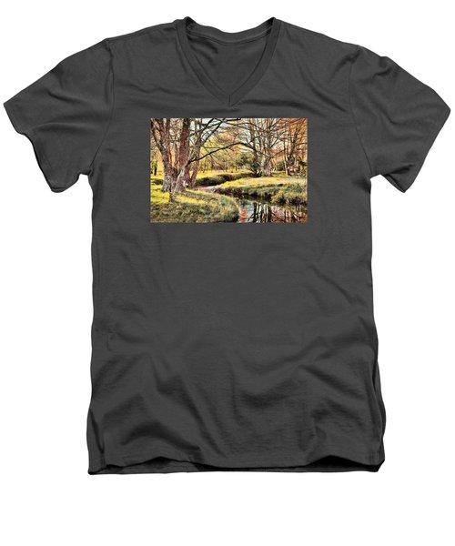 Winter Artistry Ap Men's V-Neck T-Shirt by Dan Carmichael