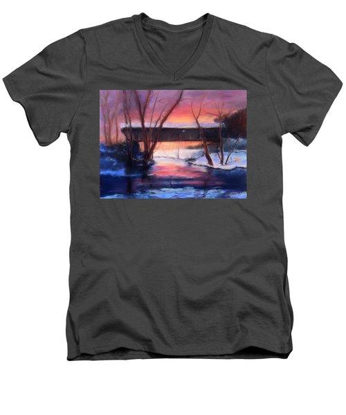 Winter At Bennett's Mill Men's V-Neck T-Shirt by Gail Kirtz