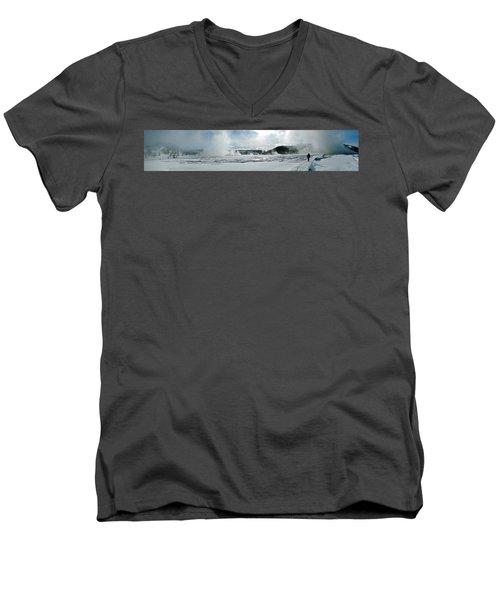Winter At Grand Prismatic Men's V-Neck T-Shirt