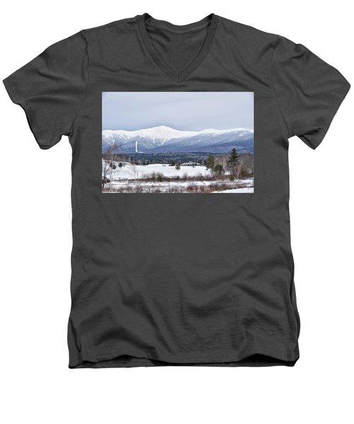 Winter At Mount Washington Men's V-Neck T-Shirt