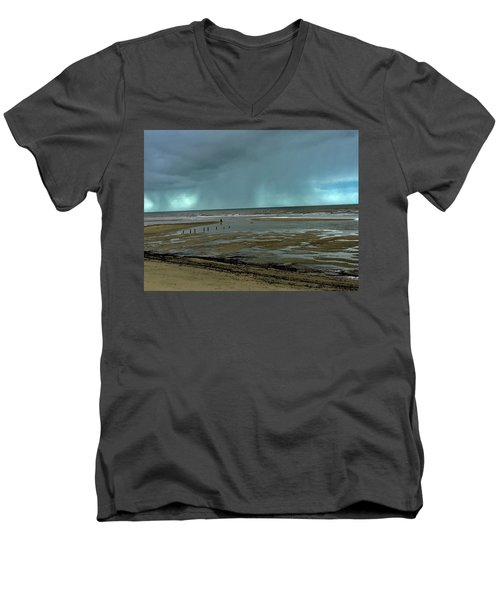 Winter Beach Men's V-Neck T-Shirt