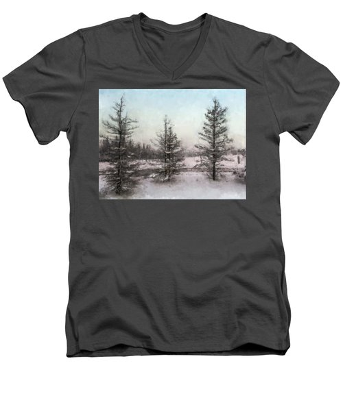 Winter Begins Men's V-Neck T-Shirt