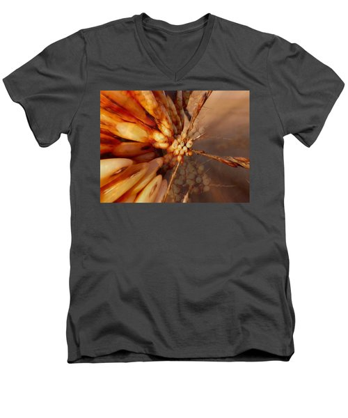 Men's V-Neck T-Shirt featuring the photograph Winter Berries by Keith Elliott