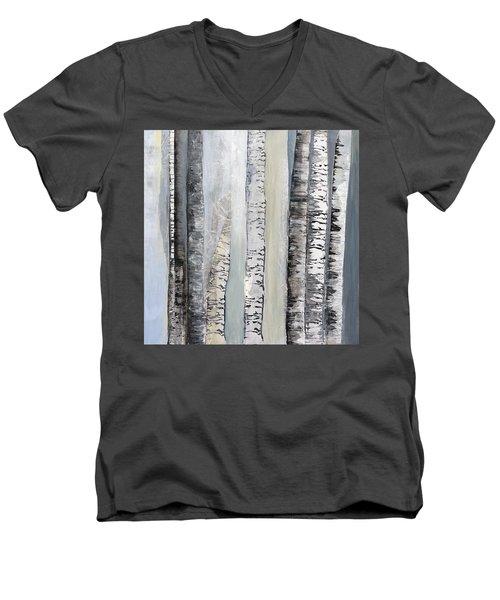 Winter Birches Men's V-Neck T-Shirt