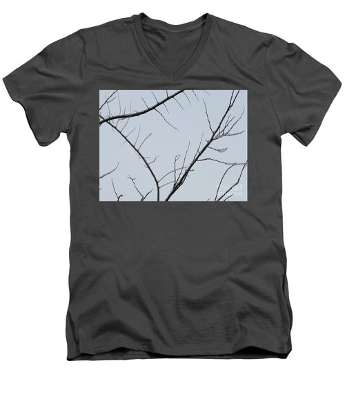 Winter Branches Men's V-Neck T-Shirt