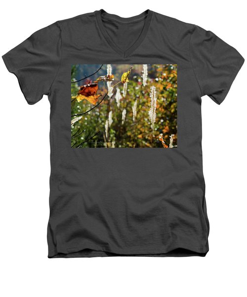 Winter Color Men's V-Neck T-Shirt by George Randy Bass