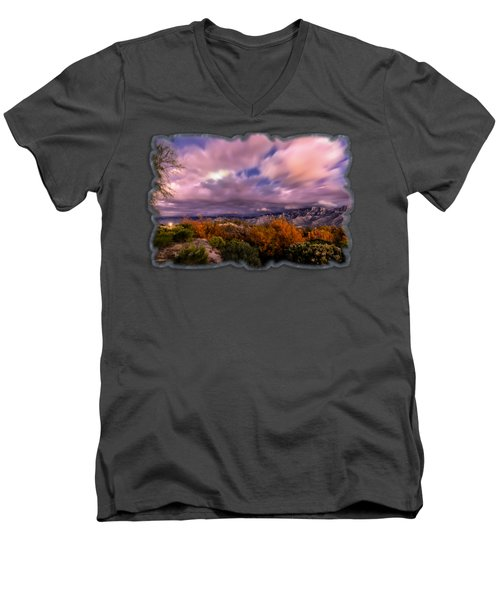 Winter Colors 25 Men's V-Neck T-Shirt by Mark Myhaver