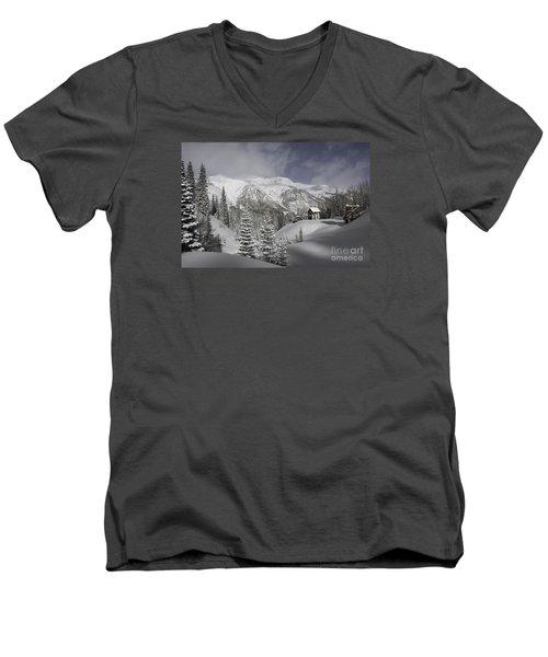 Winter Comes Softly Men's V-Neck T-Shirt