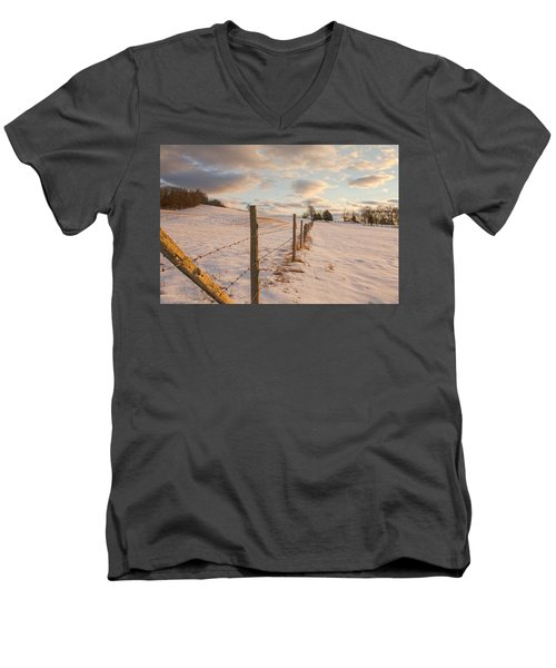 Winter Countryside Men's V-Neck T-Shirt